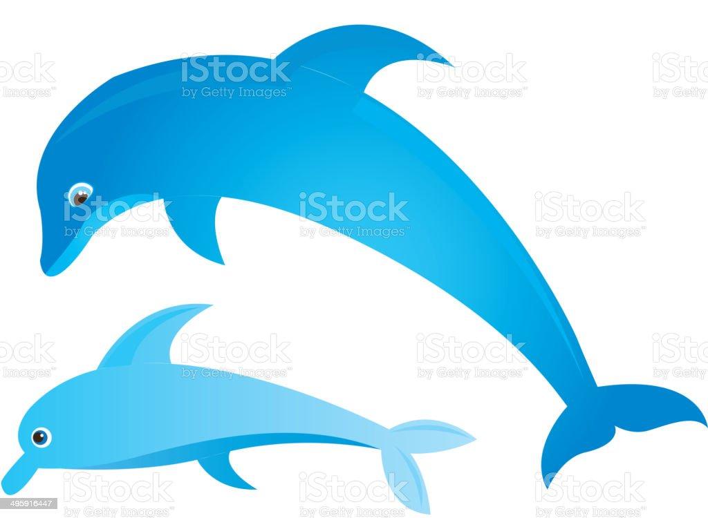 Blue dolphin royalty-free stock vector art