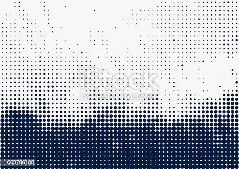 Blue dots pattern background