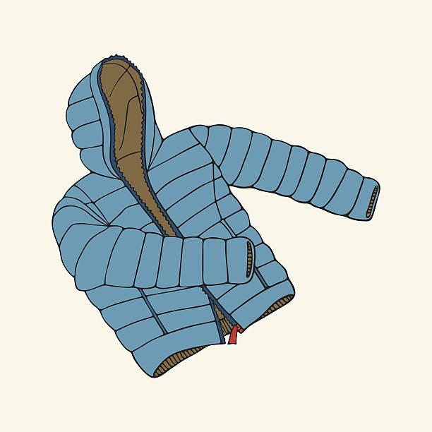 blue down jacket - parkas stock-grafiken, -clipart, -cartoons und -symbole
