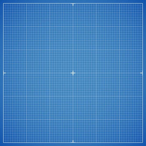 Blue drawing millimeter paper with linear markings. Vector Illustration vector art illustration