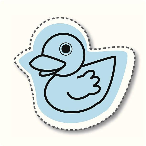 blue duck twitter sticker - twitter 幅插畫檔、美工圖案、卡通及圖標