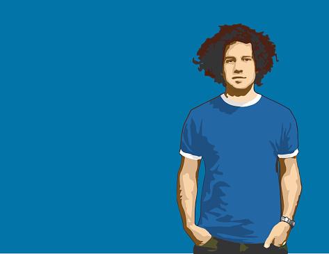 Blue Dude (vector)