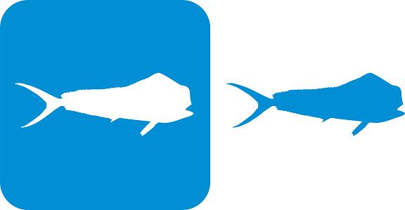 Blue Durado Mahi Fish Icons