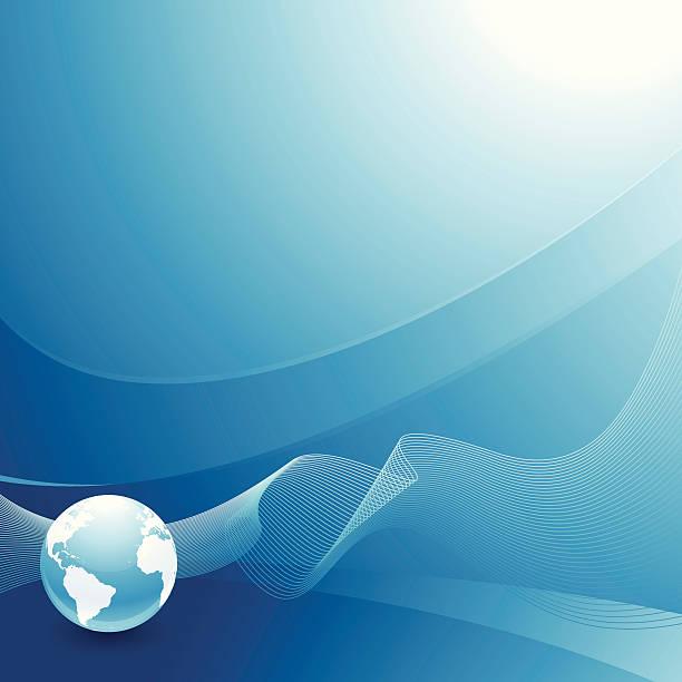 Blue Earth background. EPS8 vector art illustration