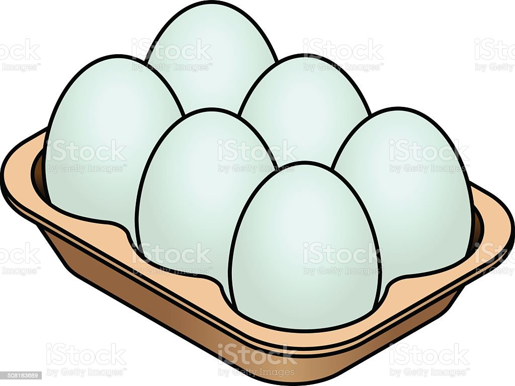 royalty free egg tray clip art vector images illustrations istock rh istockphoto com egg clip art pictures eggs clipart free