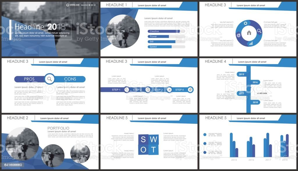Blue elements for infographics vector art illustration