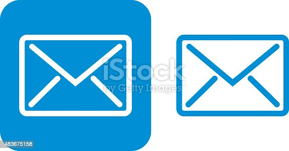 istock Blue Email Icon 483675158