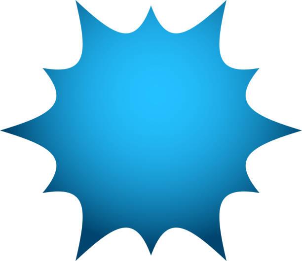 파랑 폭발 배지 - 카메라 플래시 stock illustrations