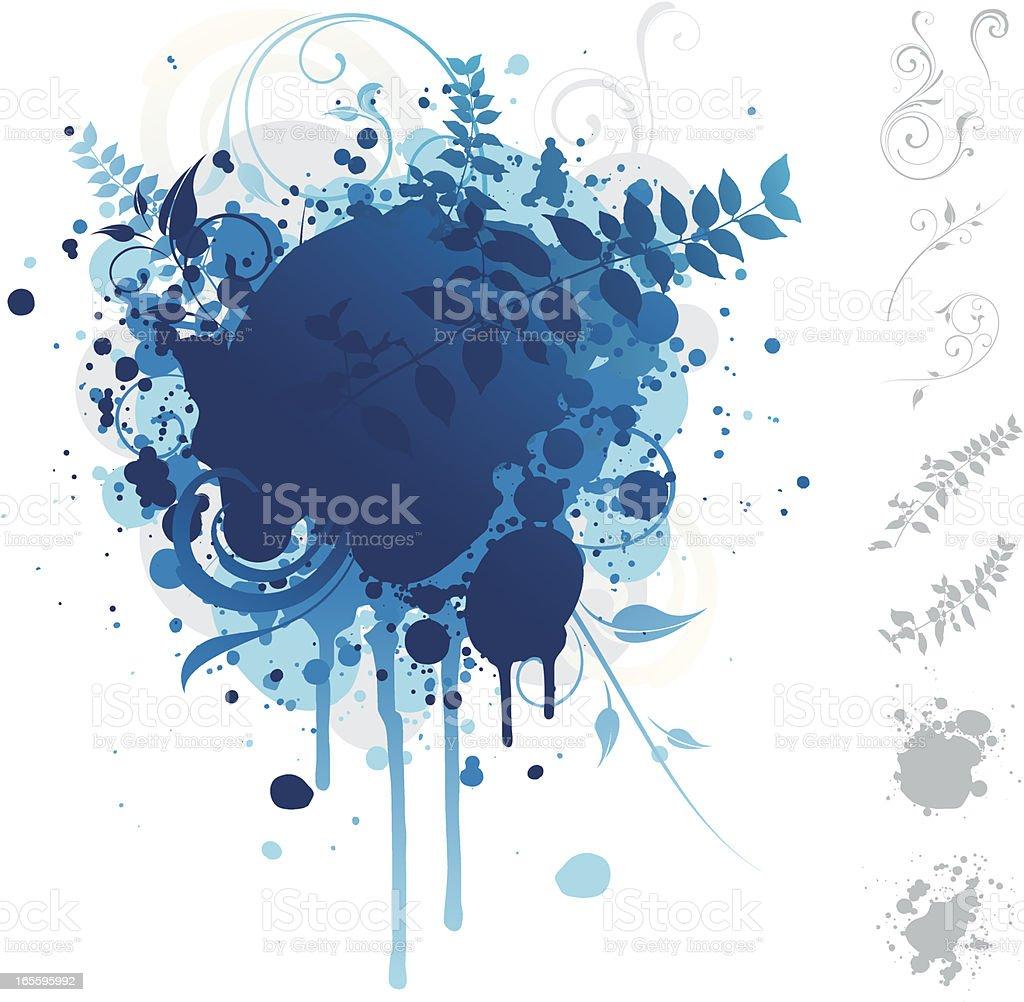 Explosión de azul ilustración de explosión de azul y más banco de imágenes de azul libre de derechos