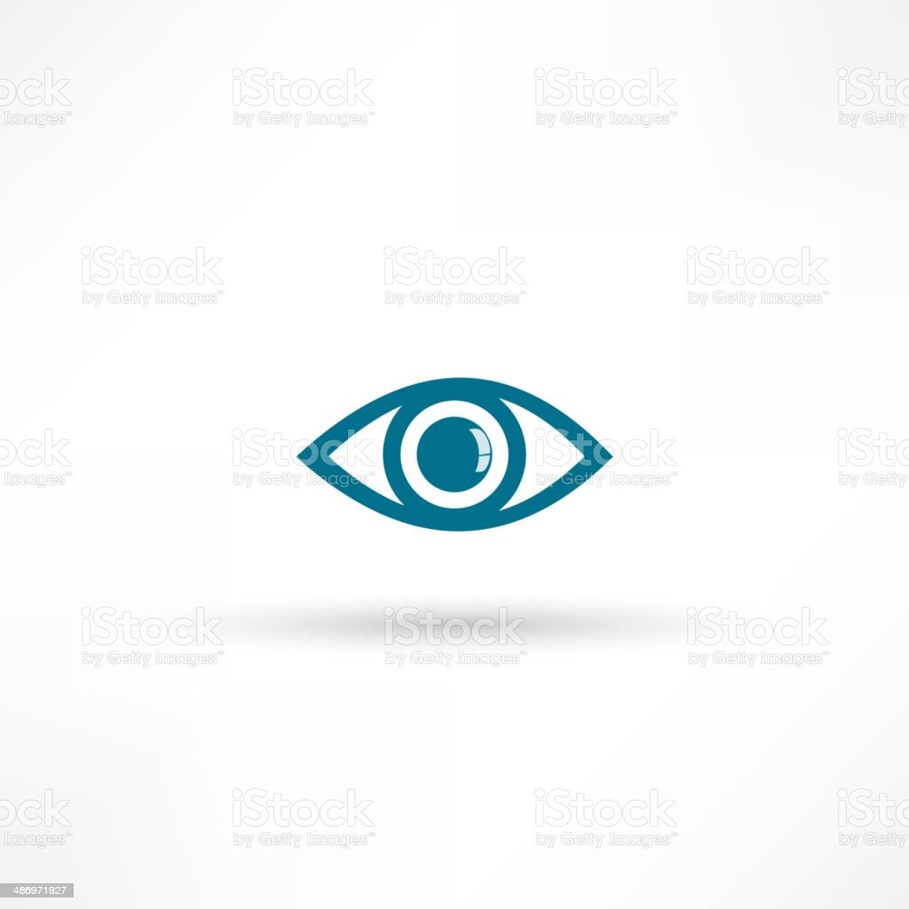 Blue Eye icon vector art illustration