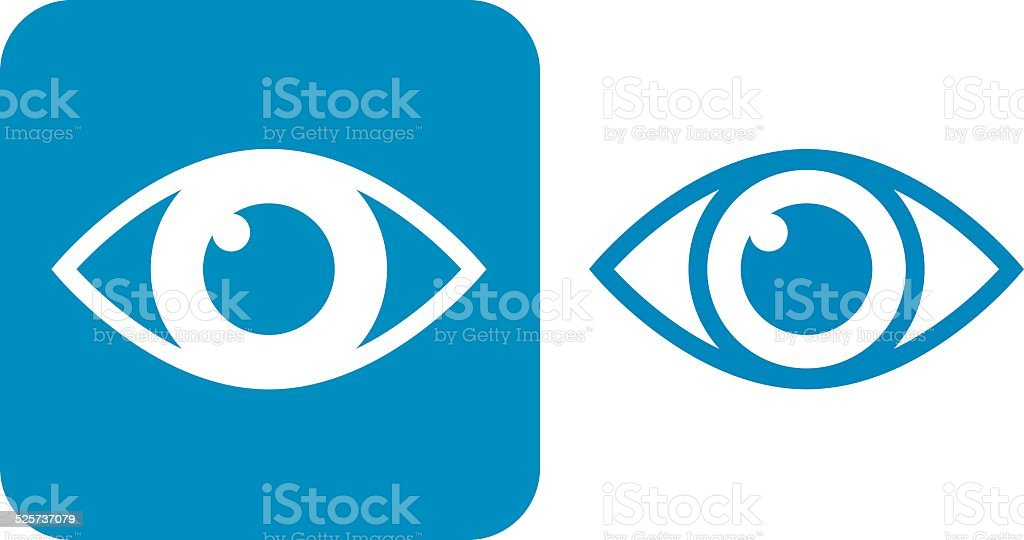 Blue Eye Icons vector art illustration
