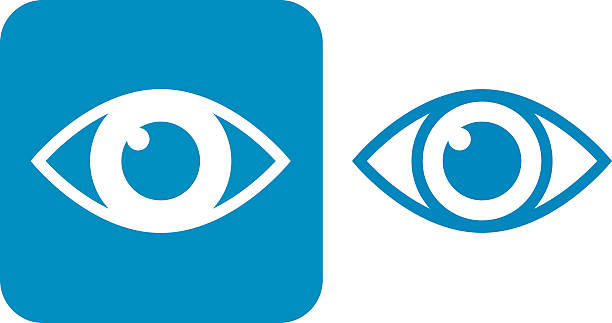 Blue Eye iconos - ilustración de arte vectorial