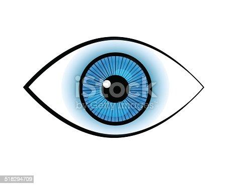 Blue Eye Symbol Stock Vector Art More Images Of Blue 518294709