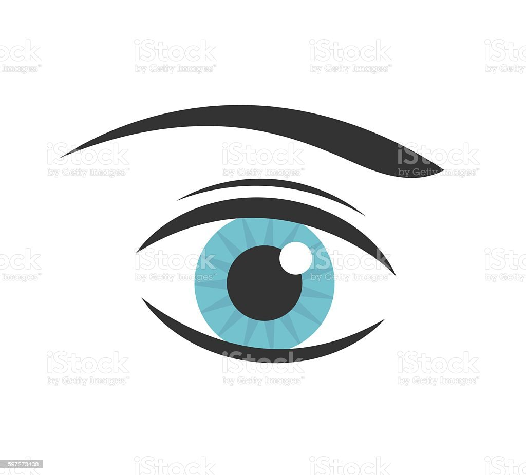 Blue eye vector royalty-free blue eye vector stock vector art & more images of abstract