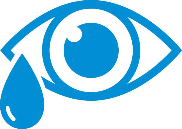 涙アイコンが付いている青い目 - 泣く点のイラスト素材/クリップアート素材/マンガ素材/アイコン素材