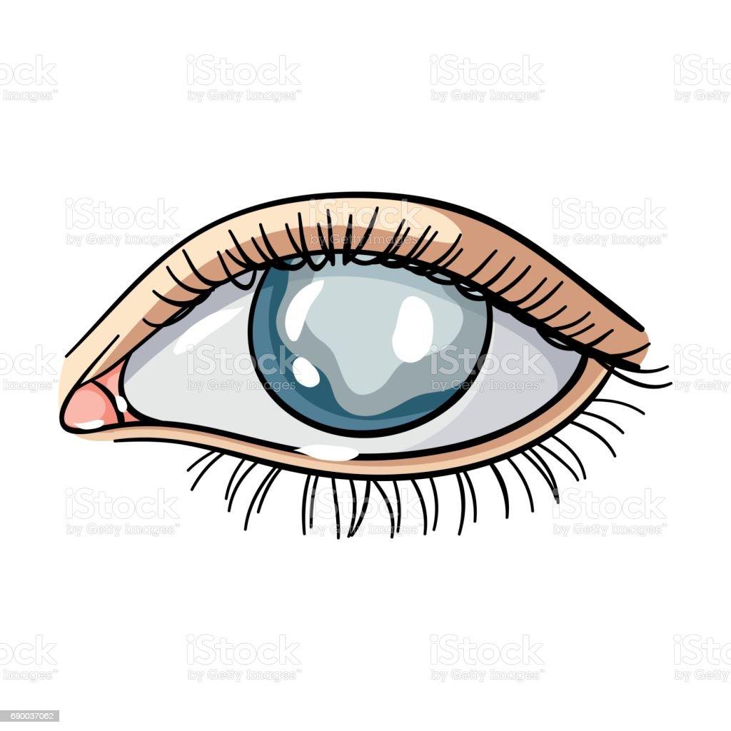 Ilustración De Ojos Azules De Un Hombre Que Sufre De Diabetes Ojos