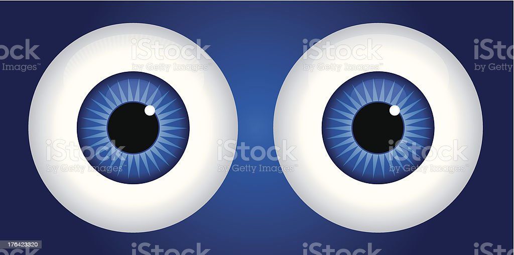 Blue Eyes vector art illustration