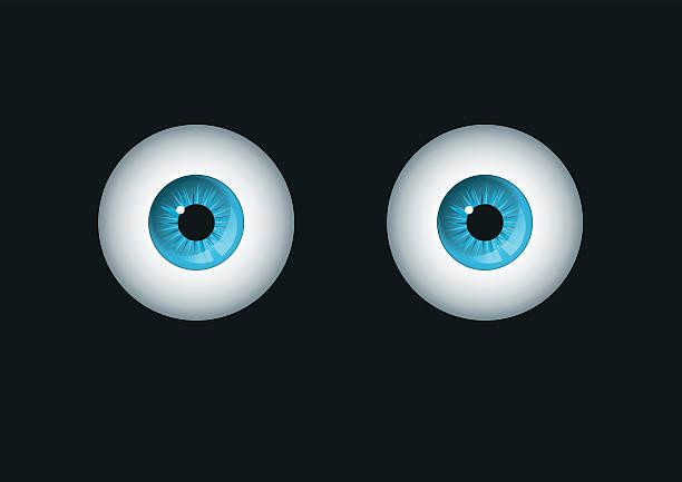 голубые глаза - глазное яблоко stock illustrations
