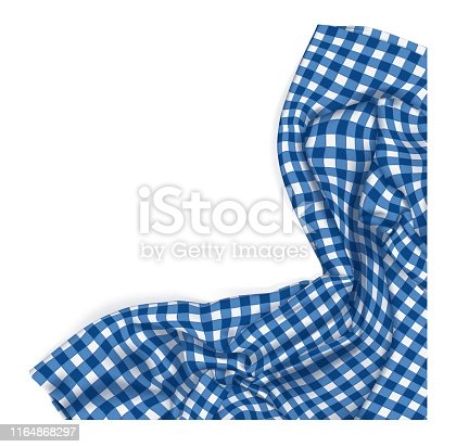 istock blue fabric table clothe isolated 1164868297