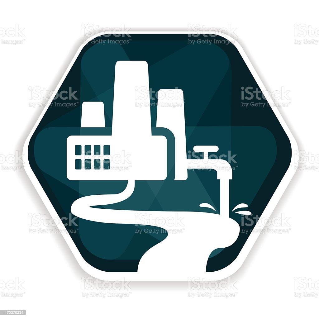 Blue factory vector icon vector art illustration