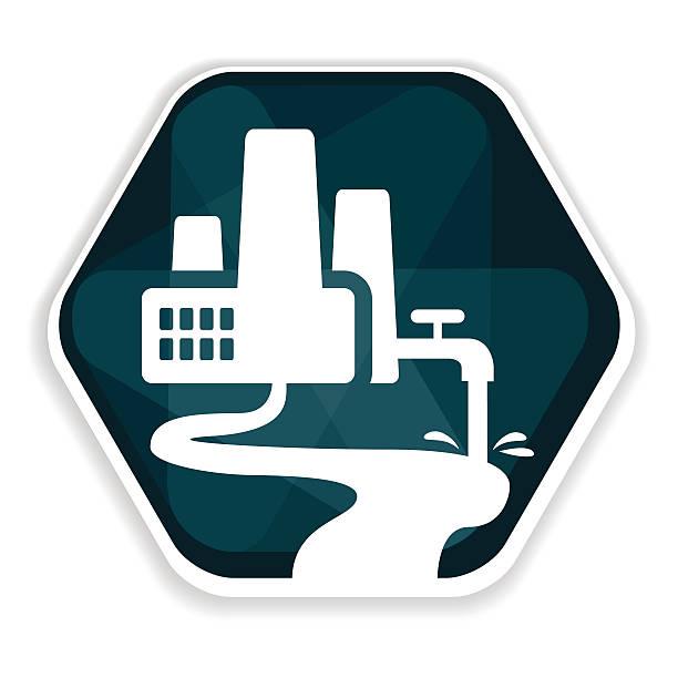 Blue factory vector icon vector art illustration