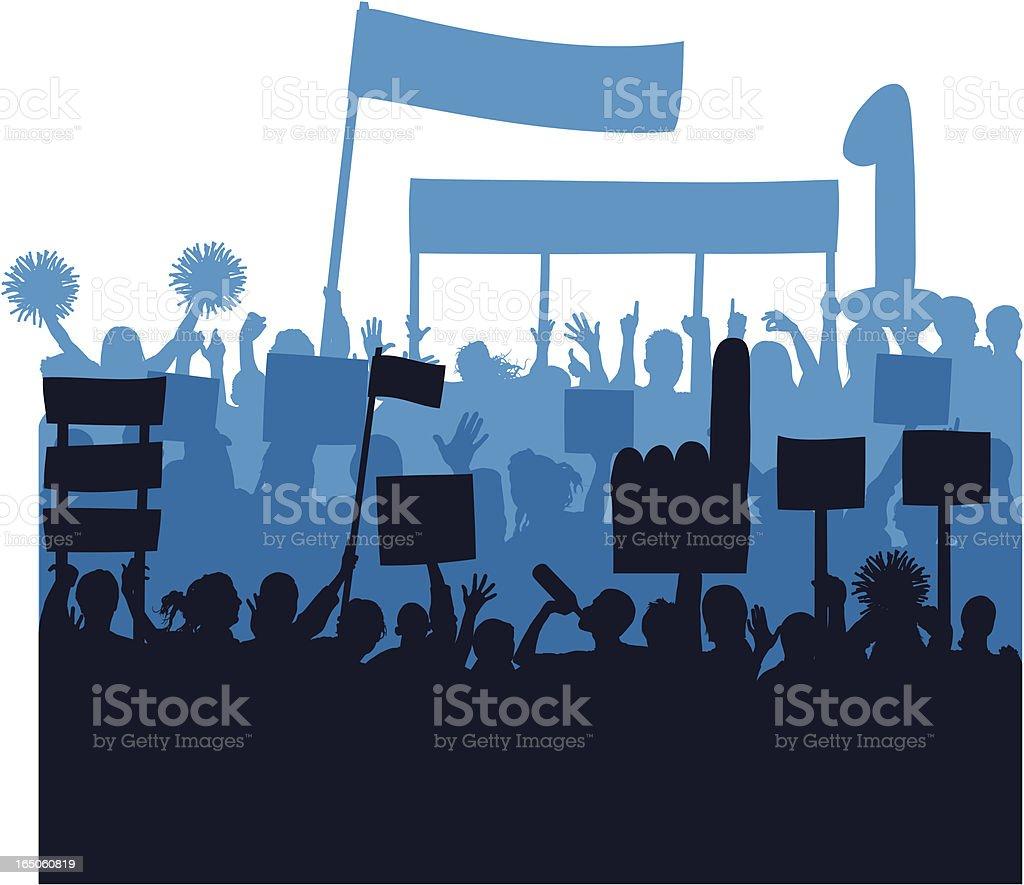 Blue Fans royalty-free stock vector art