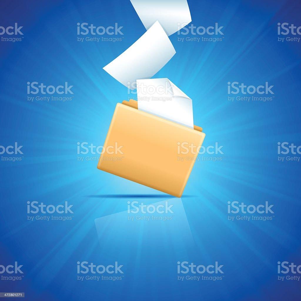Blue File Folder royalty-free stock vector art