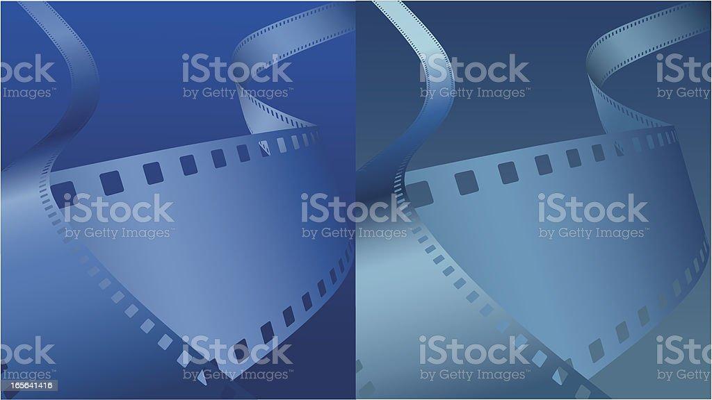 Blue film background [VECTOR] vector art illustration