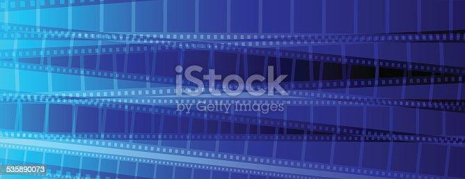 Blue Film strip background