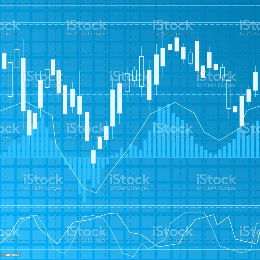 Blue finance background vector art illustration