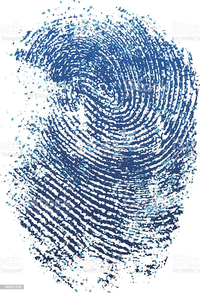 blue fingerprint royalty-free stock vector art