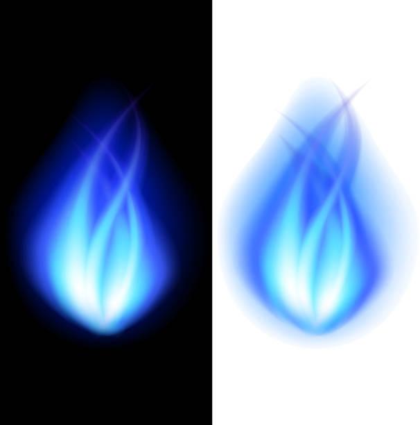 Blue fire vector background vector art illustration
