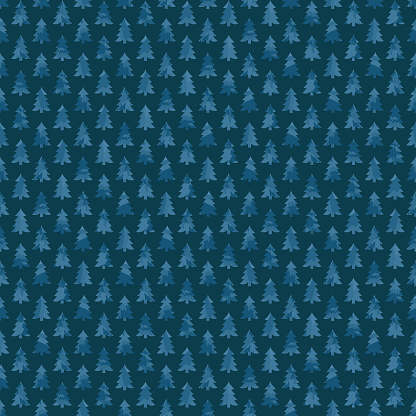blue fir-trees. winter illustration. repetitive background. vector seamless pattern. continuous print. fabric swatch. wrapping paper. decorative element for textile, home decor, greeting card, apparel