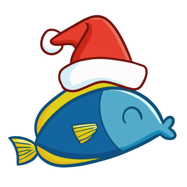 Best Christmas Fish Illustrations Royalty Free Vector