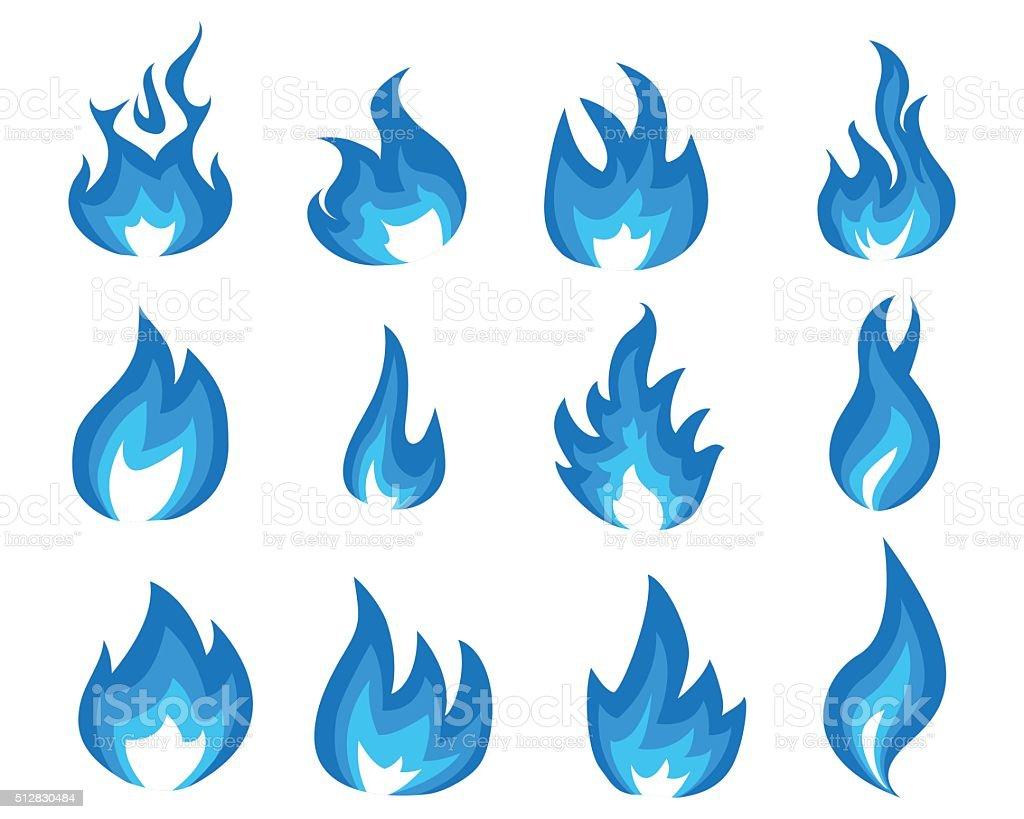 blue flame illustration vector art illustration