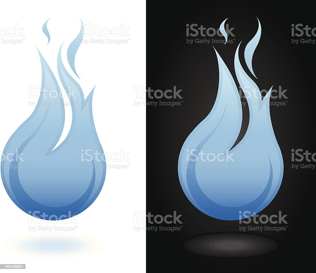 Blue Flame royalty-free stock vector art