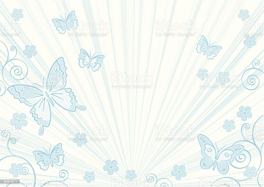 Blue floral background royalty-free blue floral background stock vector art & more images of art