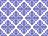 blue floral decorative pattern