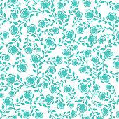 blue floral pattern background