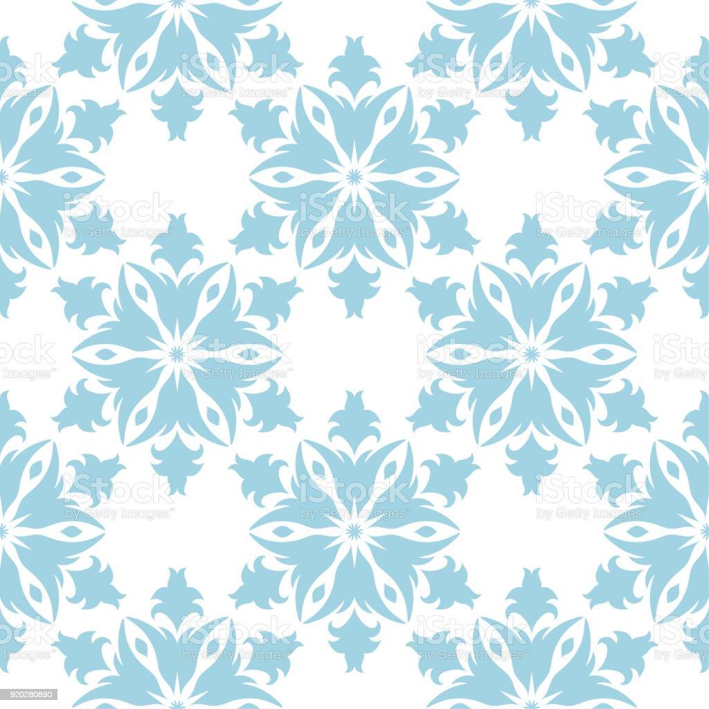 7fd2c75de5cb Design sem costura floral azul sobre fundo branco vetores de design sem  costura floral azul sobre