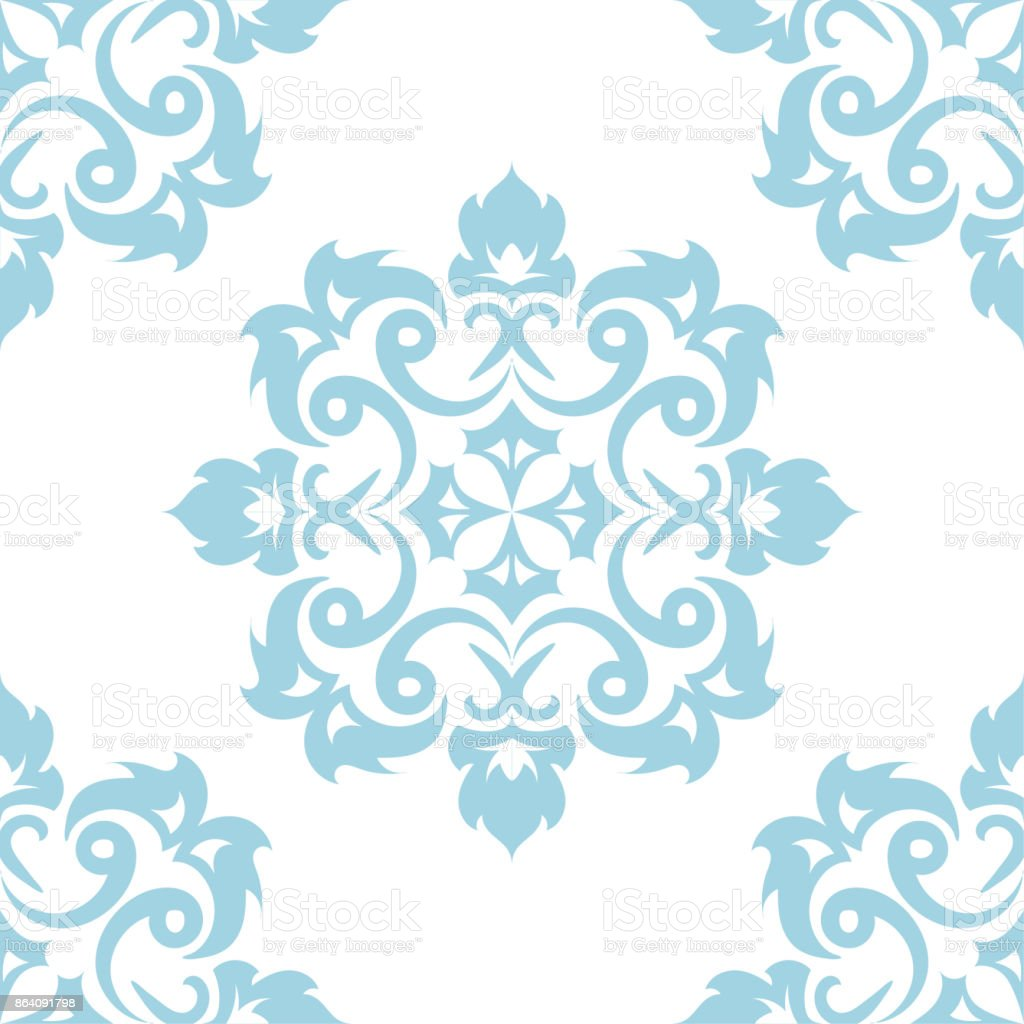 Blue floral seamless pattern on white background royalty-free blue floral seamless pattern on white background stock vector art & more images of abstract