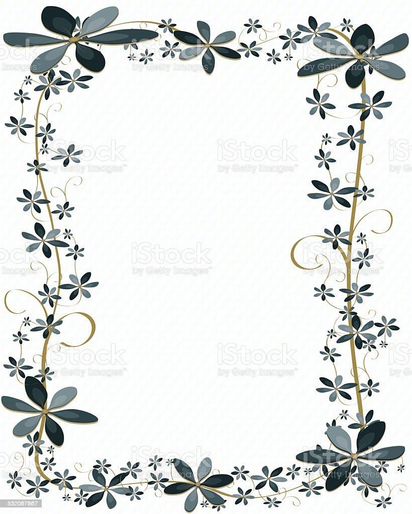 Blue Flower Border Design Background Stock Vector Art ...
