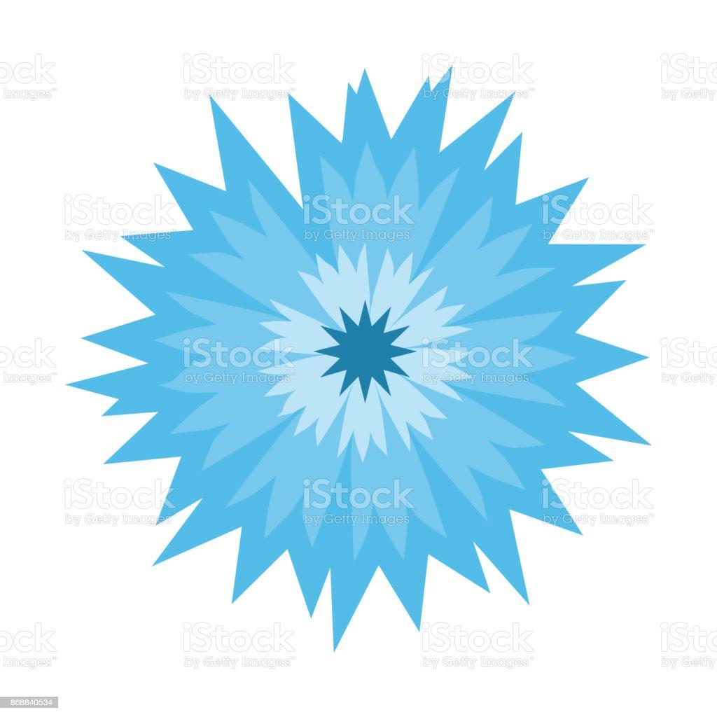 Bleuet Fleur Bleue Isole Sur Fond Blanc Illustration De Dessin Anime