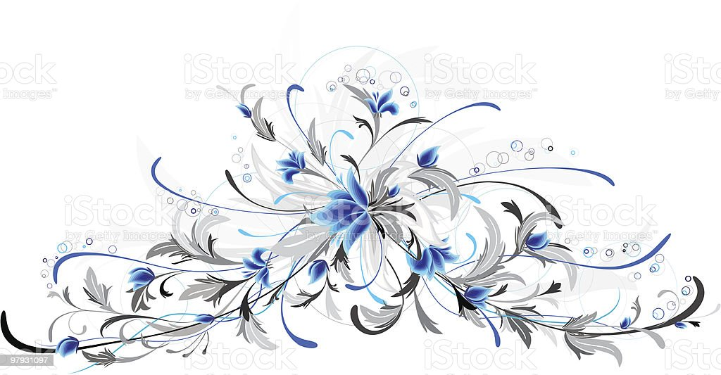blue flowers royalty-free blue flowers stock vector art & more images of art