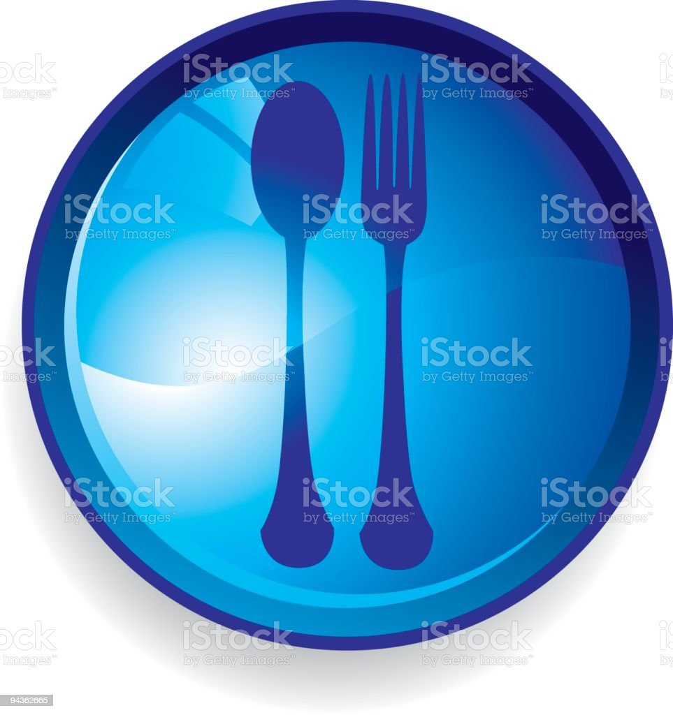 Blue Food Icon royalty-free stock vector art