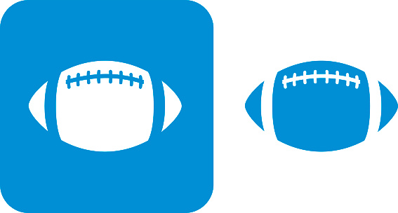 Blue Football Icons