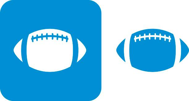 blue football icons - football stock illustrations, clip art, cartoons, & icons