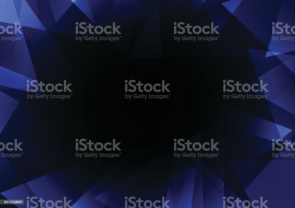 blue fracture frame abstract dark background vector art illustration