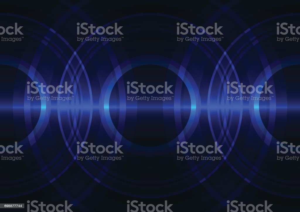 blue frequency wave abstract background vector art illustration
