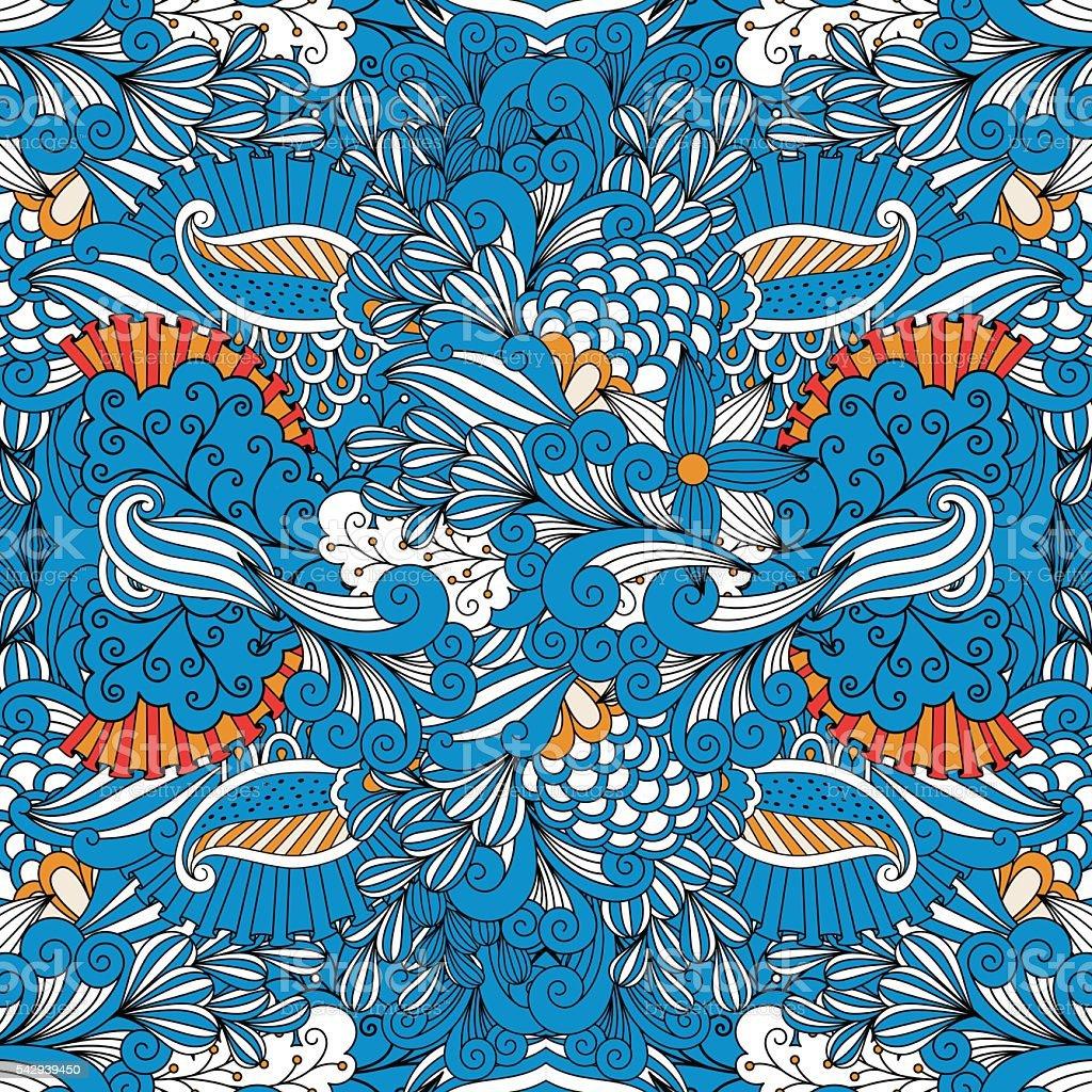 Azul Encuadre Completo Sin Costuras Fondo Especial - Arte vectorial ...